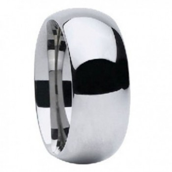 High Polished Tungsten Carbide 9mm Width Classic Dome Traditional Wedding Comfort Fit Ring Band R678 - C3183MES6AL
