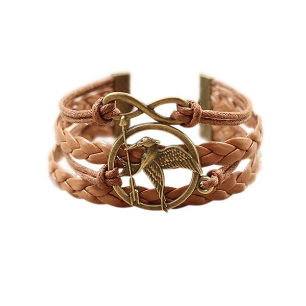 Wild Wind (TM) Birds Mockingjay Infinity Hope Peace Two-Tone Wrap Bracelet - CQ125JJPTCR