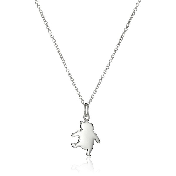 "Disney Sterling Silver Winnie The Pooh Pendant Necklace- 16""+2"" Extender - C111V23PWJF"