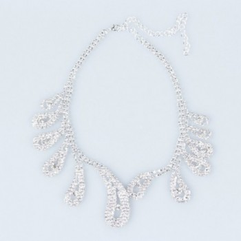ClearBridal Rhinestones Necklace Earrings 15042a