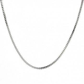 925 Sterling Silver 012 Box Chain Necklace (0.7mm) - CU112ZL0CXJ
