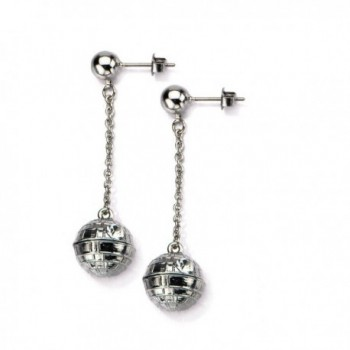 Star Wars 3D Death Star Dangle Earrings with Rhinestones - CX124QX7853