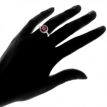 Sterling Silver Simulated Cubic Zirconia in Women's Statement Rings