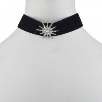Lux Accessories Rhinestone Silvertone Starburst