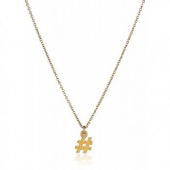 Dogeared Gold Hashtag Pendant Necklace