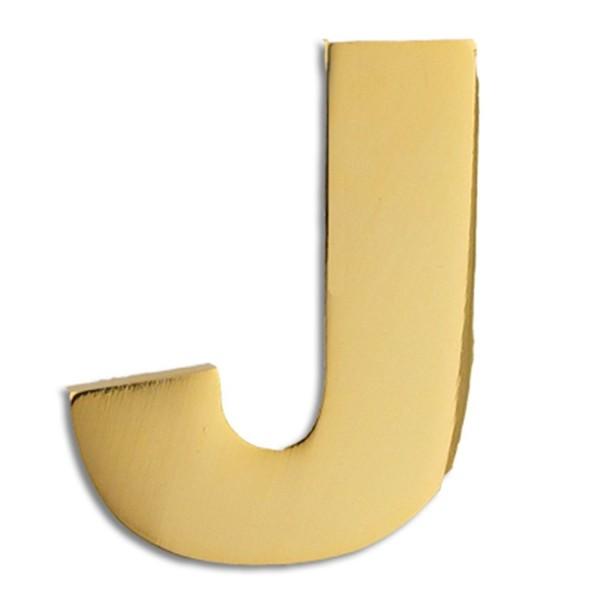PinMart's Gold Plated Alphabet Letter J Lapel Pin - CM119PEMCK5