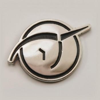 Invisible Pink Unicorn Lapel Pin - bright silver finish - C8111G13SHV