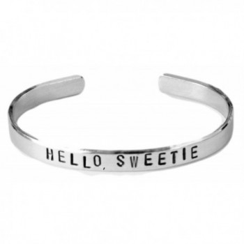 Doctor Who Inspired Bracelet - Hello- Sweetie - Hand Stamped Aluminum Cuff Bracelet - CP11JSP4IML