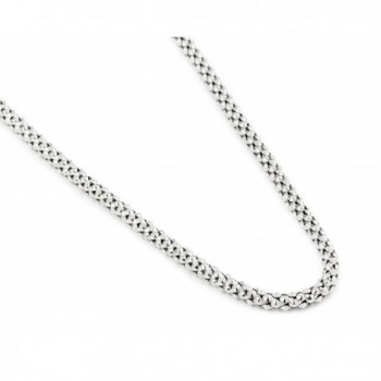 Rhodium Plated Sterling Silver Coreana Chain - C712H0K1OGN