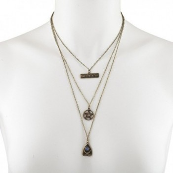 Lux Accessories Burnished Pentagram Necklace