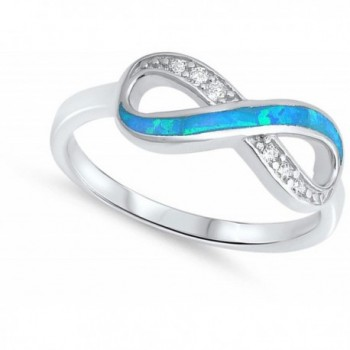 Clear Simulated Infinity Sterling Silver
