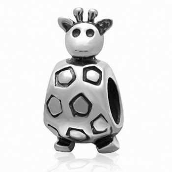 Animal Giraffe Beads Charm Authentic 925 Sterling Silver Fits European Charms Bracelet - CT12DSTIB7P