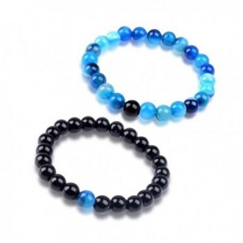 Paxuan Gemstone Distance Bracelets Bracelet - Blue + Black - CS183T9LZ22