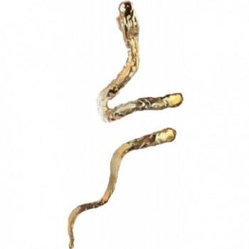 'Gnarley' Snake Ear Cuff Non-Pierced Cartilage Wrap Unisex Earrings A Single Left - CQ12OCOZTSD