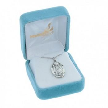 Womens Sterling Silver Pendant Rhodium