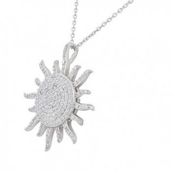 Sterling Silver White Pendant Necklace