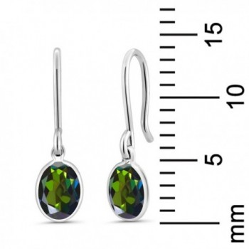 Green Mystic Sterling Silver Earrings