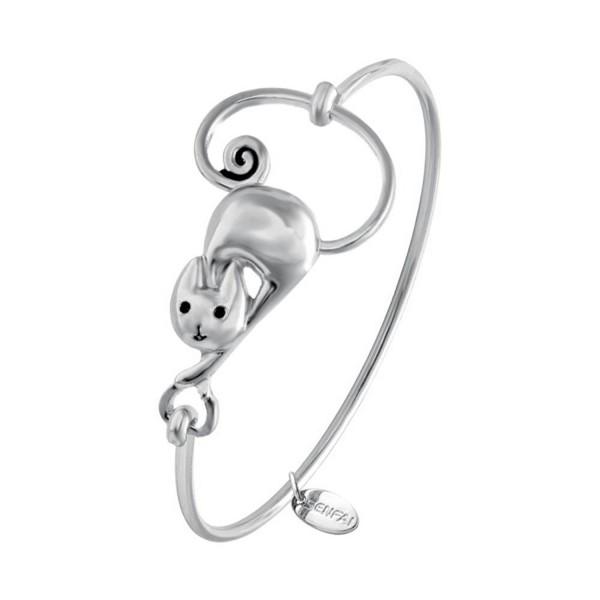 SENFAI Bracelets for Women Cute Girls Fashion Lovely Cat Bracelet Animal Jewelry Gift - CG12F28BWDF