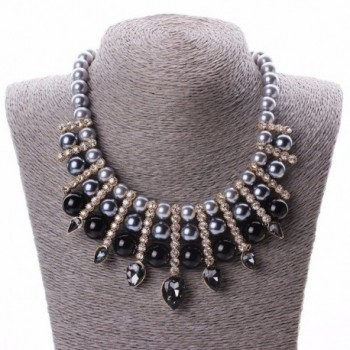 Artificial Chunky Teardrop Rhinestone Necklace in Women's Chain Necklaces