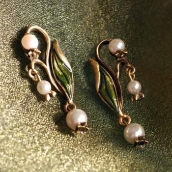 Vintage Valley Wedding Anniversary Earrings in Women's Drop & Dangle Earrings