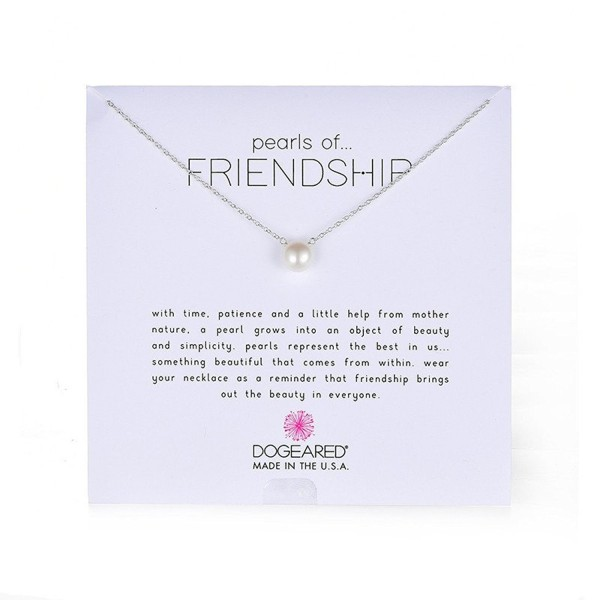 """Dogeared """"Pearls of . . . Friendship"""" Freshwater Cultured Pearl Necklace- 18.75"""" - white - CD114O28Y4V"""