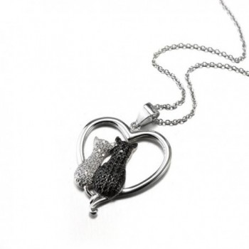 Two tone Sterling Silver Crystal Necklace