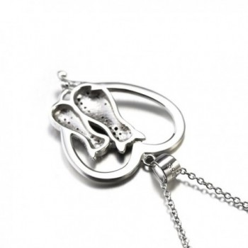 Two tone Sterling Silver Crystal Necklace in Women's Pendants