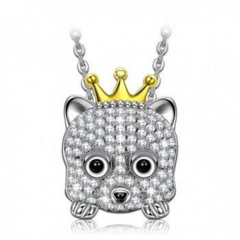 "NINASUN ""Princess Annie"" 925 Sterling Silver Pendant Necklace Animal Design 3A CZ Jewelry-Happy Everyday! - CK186290S8K"