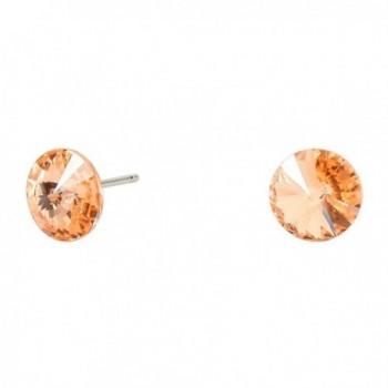 Rosemarie Collections Women's Genuine Austrian Crystal Small Peach Stud Earrings - C412NR4PRX8