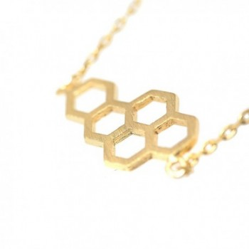 Spinningdaisy Handcrafted Brushed Beehive Necklace in Women's Pendants