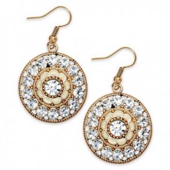 American Rag Earrings- Gold-Tone Rhinestone Round Dangle Drop Earrings - CN11N137U4T