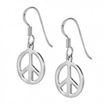 Peace Sterling Silver Dangle Earrings