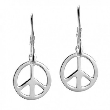 Peace Sterling Silver Dangle Earrings in Women's Drop & Dangle Earrings