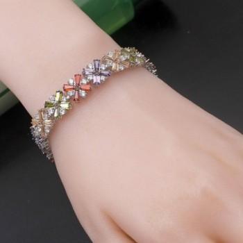 Bracelet Amethyst Morganite Bracelets Gemstone in Women's Link Bracelets