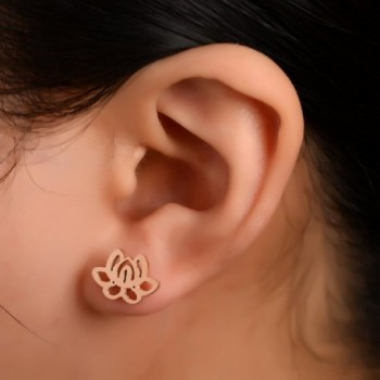 Flower Earrings Rose Stainless Purity Jewelry in Women's Stud Earrings
