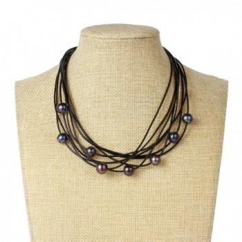 Bonnie Multi Strand Freshwater Embellishment Necklace