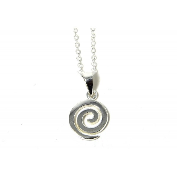 Spiral Pendant Necklace Sterling Silver Made in Ireland - CM1182ZP02P