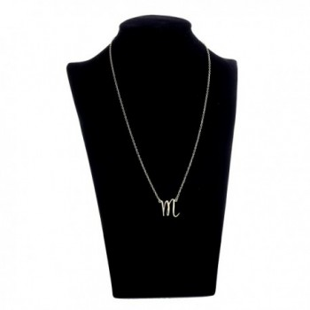 AOLO Gold Initial Necklace Alphabet in Women's Pendants