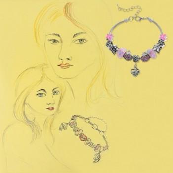 MJartoria Butterfly Adjustable Bracelet Rhinestone in Women's Strand Bracelets
