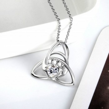 Sterling Triangle Claddagh Pendant Necklace