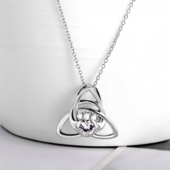Sterling Triangle Claddagh Pendant Necklace in Women's Pendants