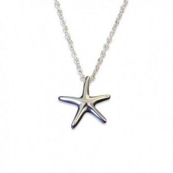 Silver Starfish with a Secret Cremation Necklace - Stainless Steel Urn Pendant - CX11XJZU1T5