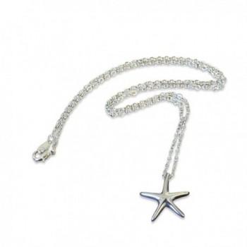 Silver Starfish Secret Cremation Necklace