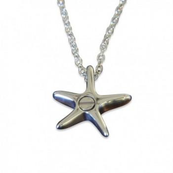 Silver Starfish Secret Cremation Necklace in Women's Lockets