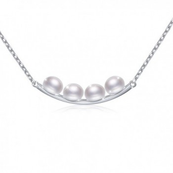 S925 Sterling Silver Freshwater Cultured Pearl Earrings/Necklace for Women White - CT184SDDIZL