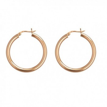 Sterling Silver Rose-Gold Polished Hoops 2x20MM Hoop Earrings (rose-gold-and-sterling-silver) - CA12M6XRK3P