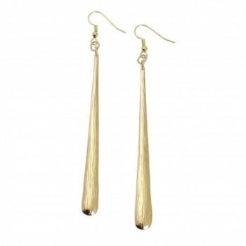 Nu Gold Stiletto Bark Earrings by John S Brana Handmade Jewelry Durable Brass - Lightweight - CI1181A5TKX
