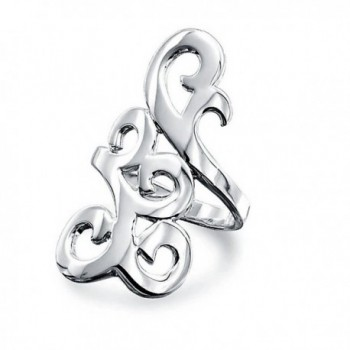 Bling Jewelry Filigree Scroll Statement Full Finger Sterling Silver Armor Ring - CG11EK9DX2B