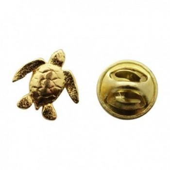 Sea Turtle Mini Pin ~ 24K Gold ~ Miniature Lapel Pin ~ Sarah's Treats & Treasures - CI12O7PBS53