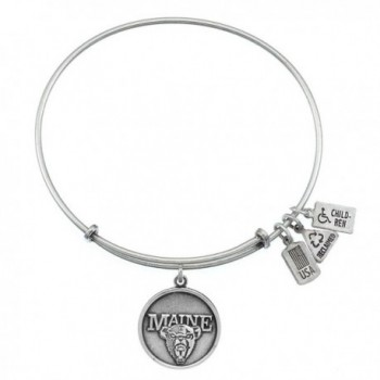 Wind and Fire University of Maine Charm Silver Tone Bangle WF656 - CB127BAWD1L